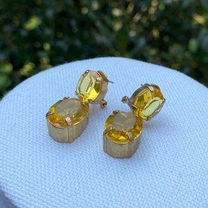 J.CREW Drop Yellow Rhinestone EARRINGS